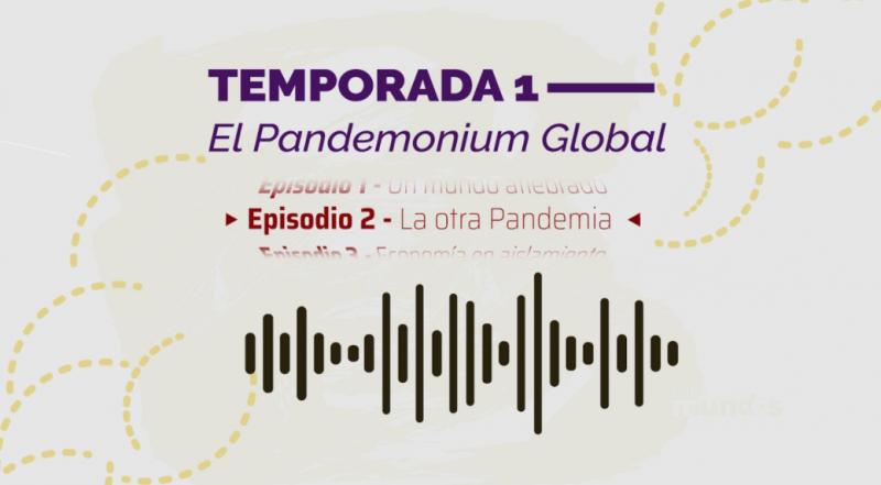 Imagen ilustrativa del segundo episodio del podcast de las Relaciones Internacionales que muestra la idea gráfica de una onda sonora