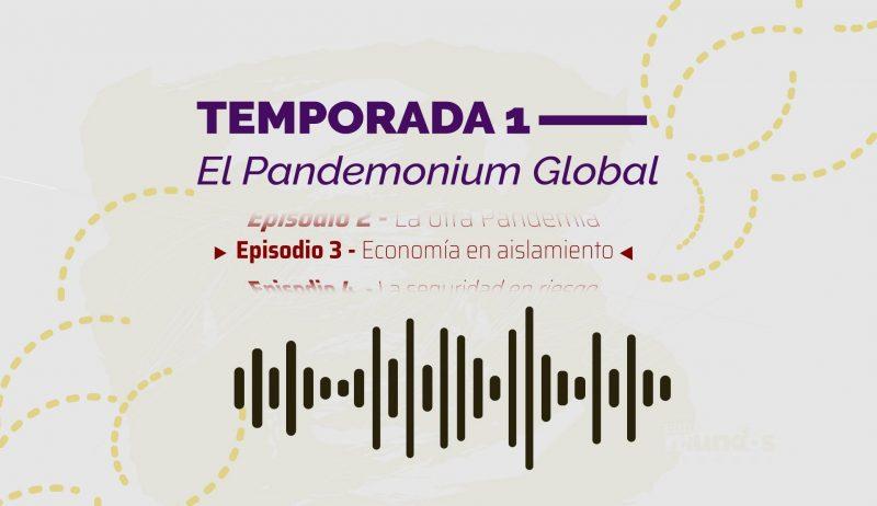 Imagen ilustrativa del tercer episodio del podcast de las Relaciones Internacionales que muestra la idea gráfica de una onda sonora