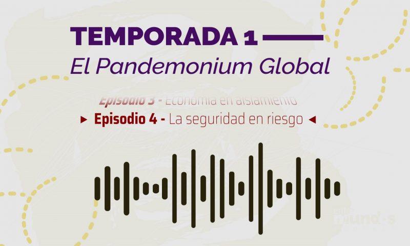 Imagen ilustrativa del cuarto episodio del podcast de las Relaciones Internacionales que muestra la idea gráfica de una onda sonora